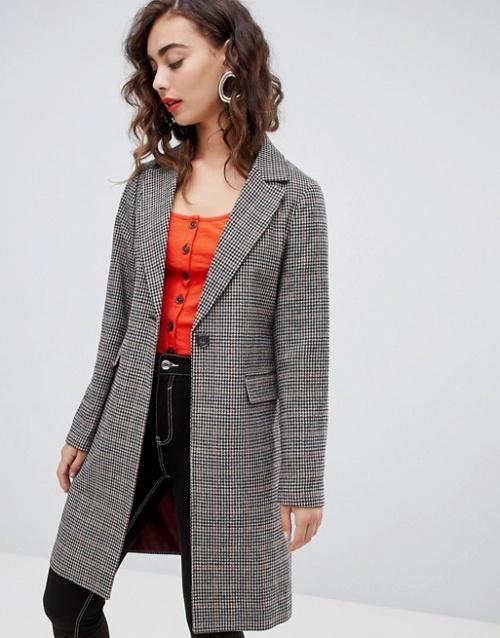 New Look - Manteau à carreaux