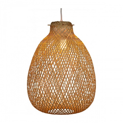 Habitat - Leila - Abat-jour en bambou moyen