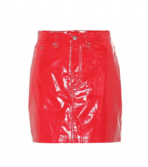 Calvin Klein Jeans- Mini-jupe en vinyle