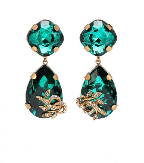 Dolce & Gabbana- Boucles d'oreilles clip en métal à ornements