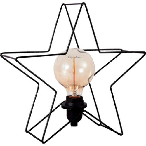 Alinea - Etoile - lampe à poser en métal noir forme étoile h24cm