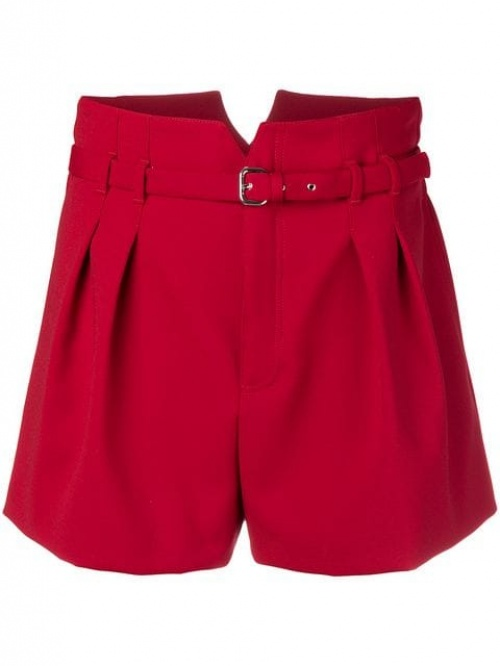 Red Valentino- Loose Fitted Shorts