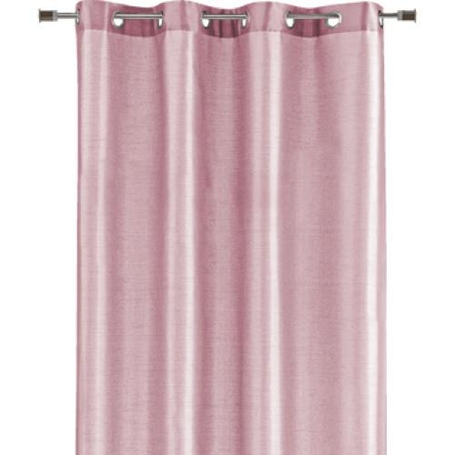 Alinea - Saga - rideau à œillets rose poudré 140x250cm
