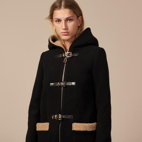 Sandro - Manteau à capuche
