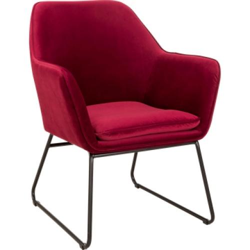 Alinea - LOU - fauteuil en velours sumac