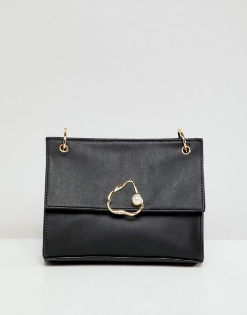 ASOS DESIGN - Sac porté épaule avec motif abstrait orné de perles