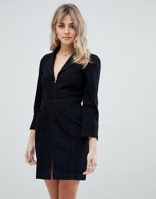ASOS DESIGN - Robe blazer en jean