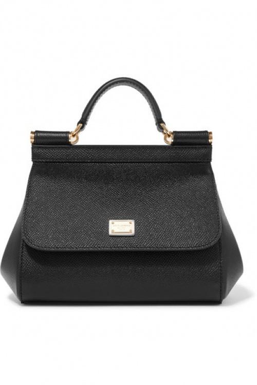 Dolce & Gabbana - Sac à main en cuir texturé Sicily Micro