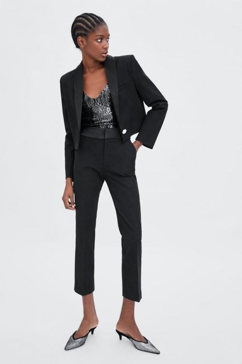 Zara - Veste de smoking avec bouton bijou