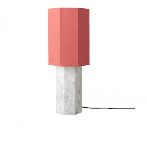 Louise Roe- Lampe Eight Over Eight corail et marbre blanc