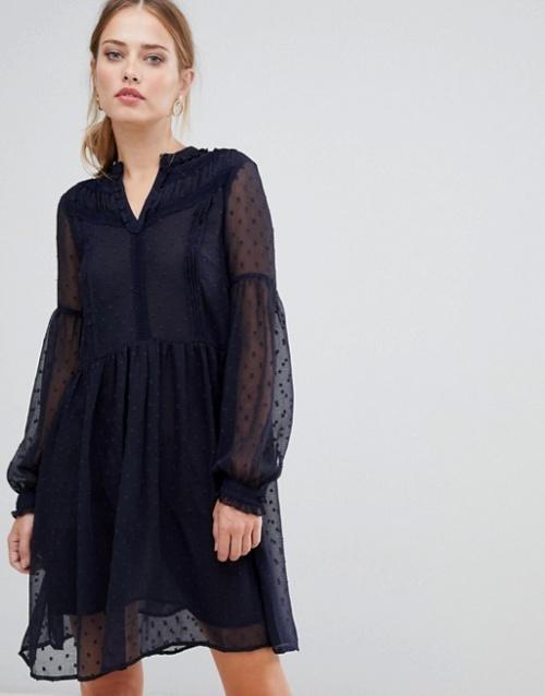 Y.A.S - Luna - Robe en tulle transparent à pois