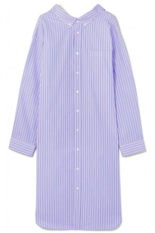 Balenciaga - Robe-chemise oversize en popeline de coton à rayures