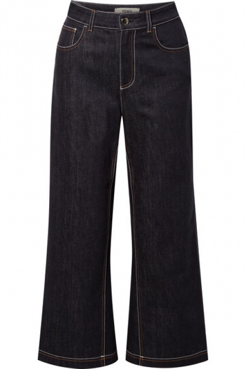 Fendi - Jean large raccourci taille haute