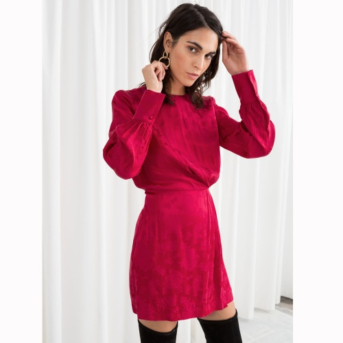 & Other Stories- Mini robe rouge