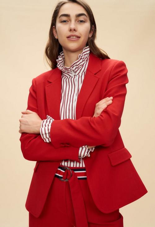 Claudie Pierlot- Veste tailleur rouge