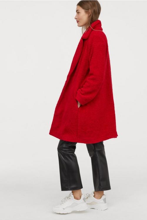 H&M- Manteau en peluche