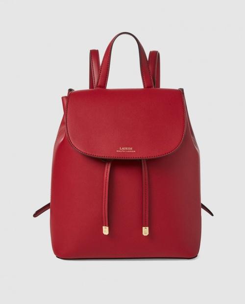 Ralph Lauren- Sac à dos rouge en cuir