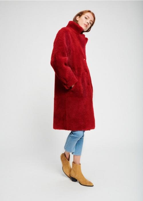 Tara Jarmon- Manteau en peau lainée
