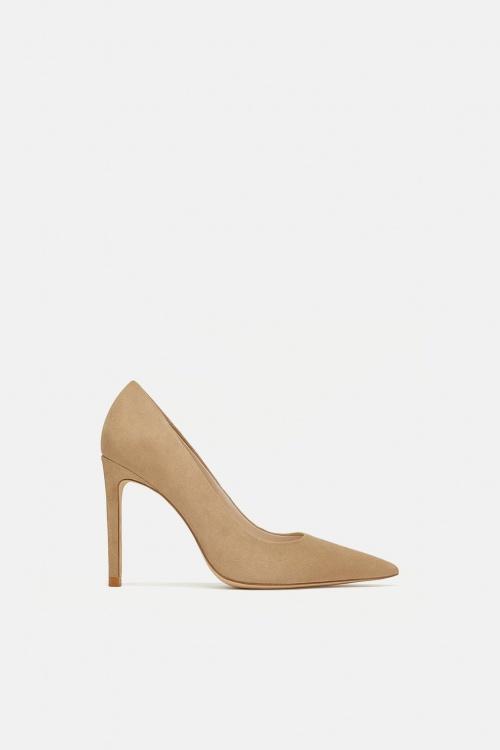 Zara - Escarpins à talons en cuir