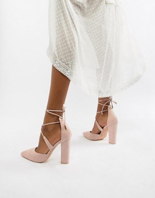 Glamorous - Escarpins noués à talons carrés