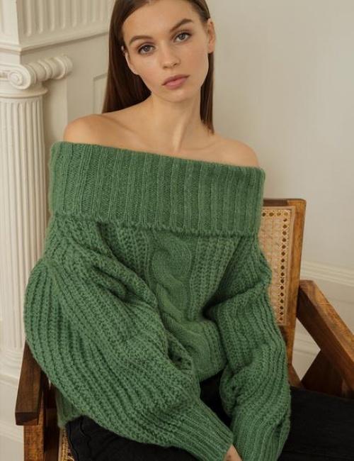Dayran - Pull épaules dénudées