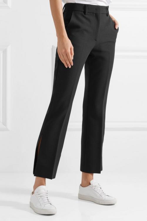 MSGM - Pantalon évasé raccourci en crêpe stretch