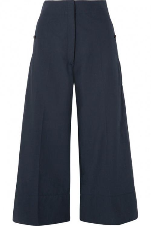 Lemaire - Pantalon large raccourci en popeline de coton