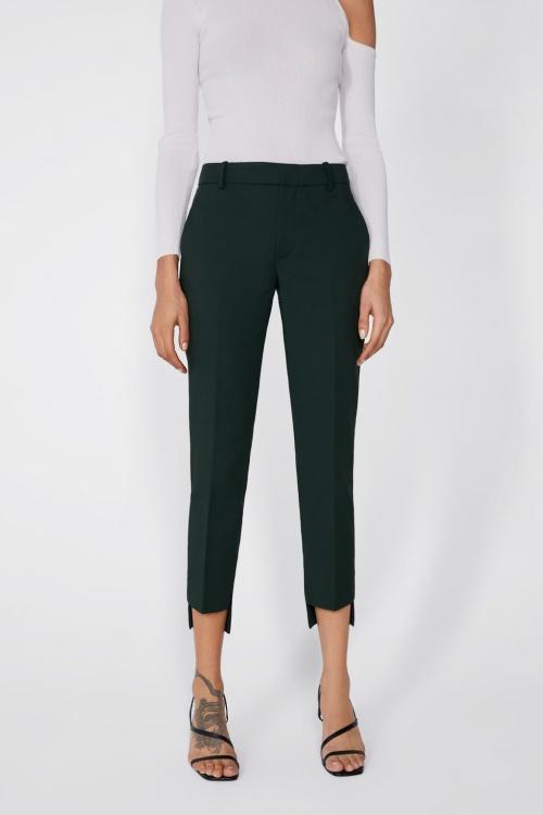 Zara - Pantalon à ourlet asymétrique