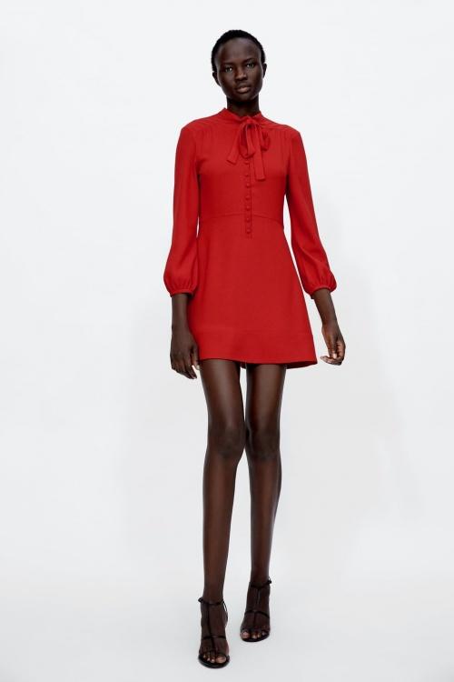 Zara - Robe courte avec noeud
