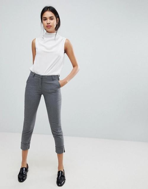 Sisley - Pantalon habillé à revers
