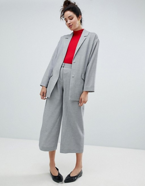 Monki - Pantalon habillé coupe large