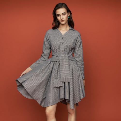 Maje - RULYTA - Robe-chemise à imprimé pied-de-coq