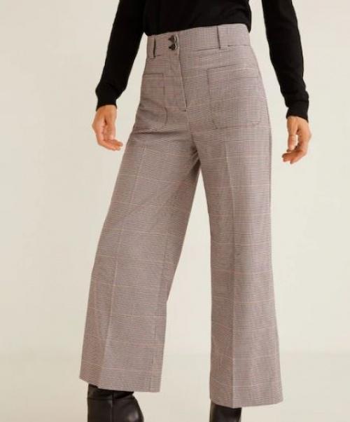 Mango - Pantalon imprimé poches