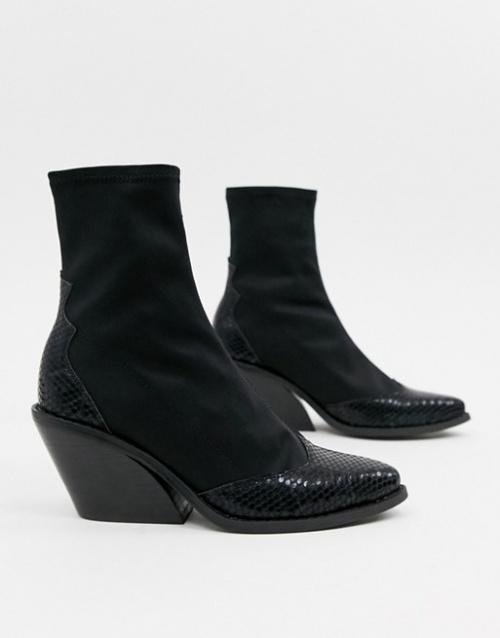 ASOS DESIGN - Bottines chaussettes effet Western