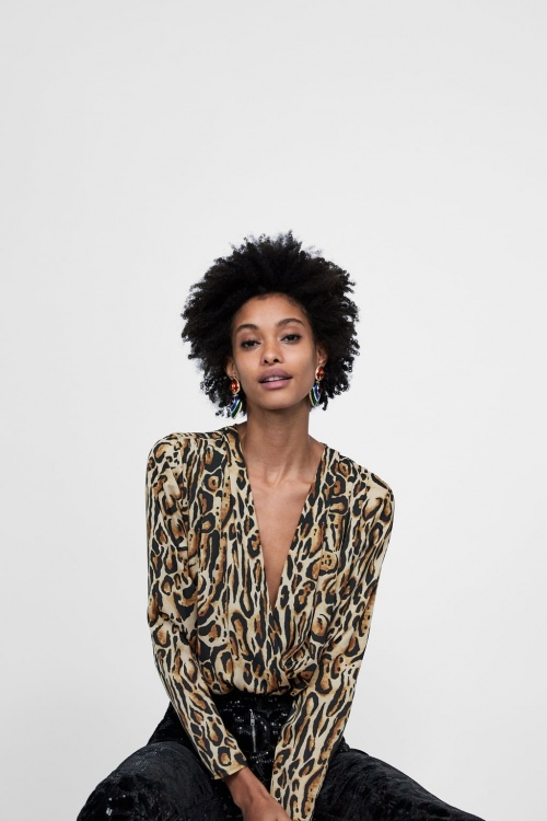 Zara - Body imprimé léopard