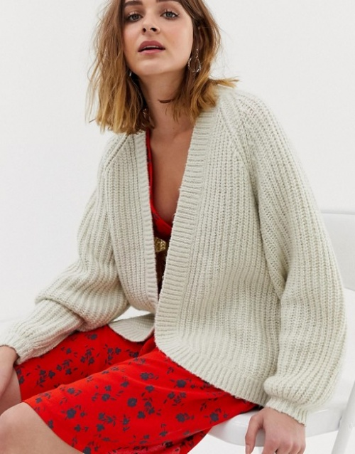 Pieces - Cardigan long en maille
