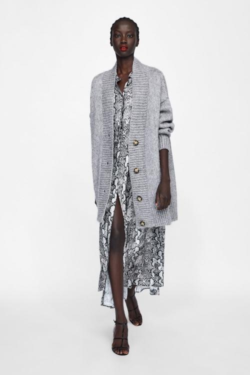 Zara - Gilet oversize texturé