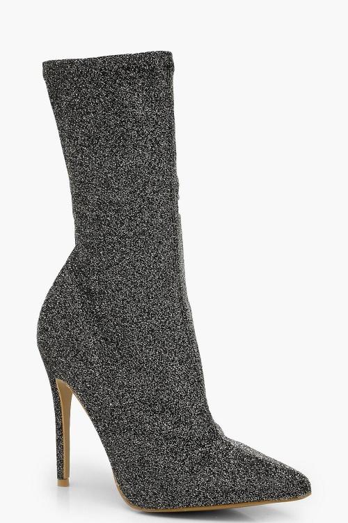 Boohoo - Bottines chaussettes à paillettes