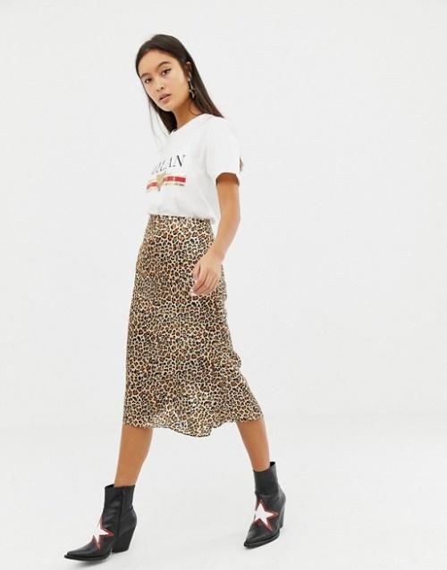 Glamorous - Jupe léopard en satin