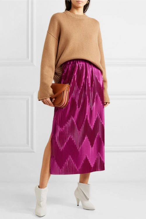 Givenchy - Jupe plissée en satin