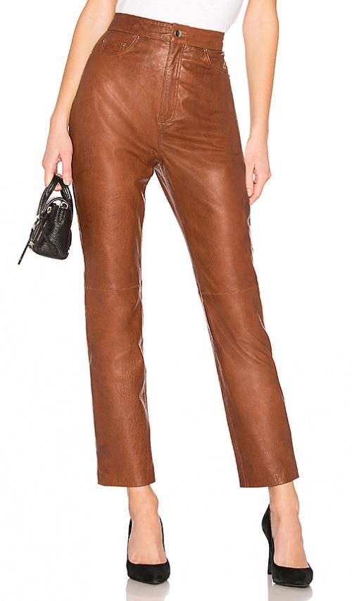 LPA - Pantalon droit en cuir