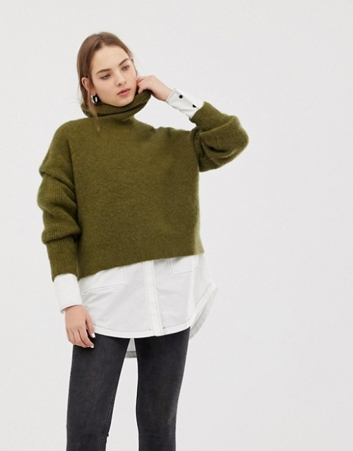 Weekday - Pull en maille à col roulé