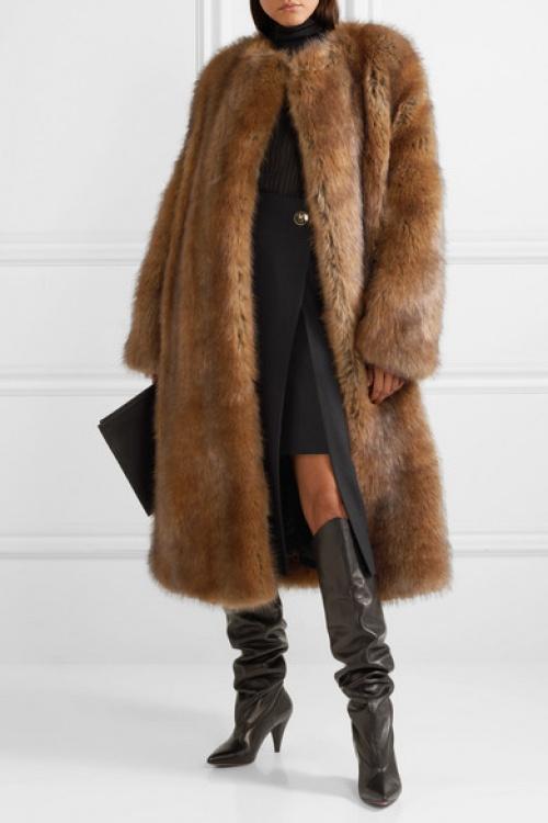 Givenchy - Manteau en fausse fourrure