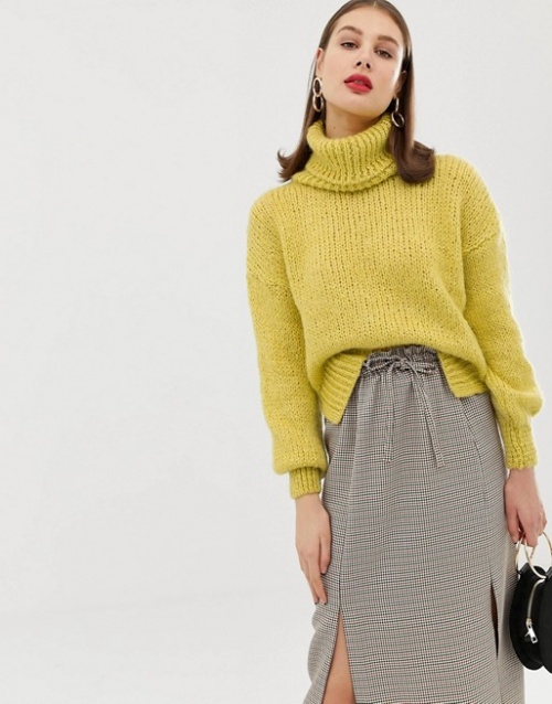 River Island - Pull col roulé à grosse maille