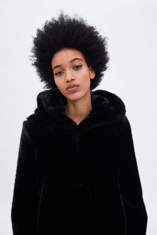 Zara - Manteau effet fausse fourrure