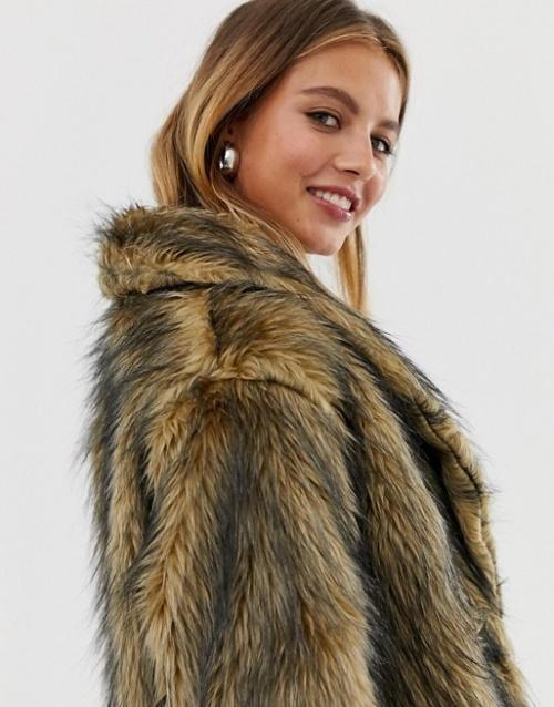 Reclaimed Vintage - inspired - Manteau fausse fourrure aspect duveteux