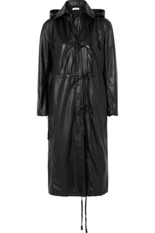 Altuzzara - Manteau à capuche en cuir Marina