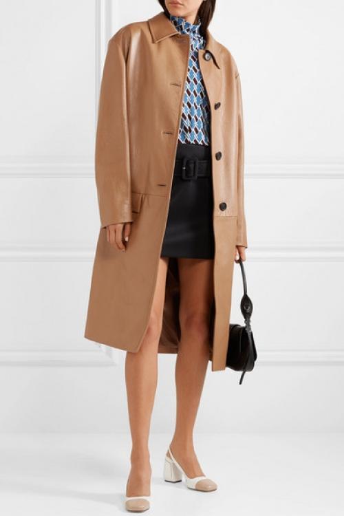 Prada - Manteau en cuir