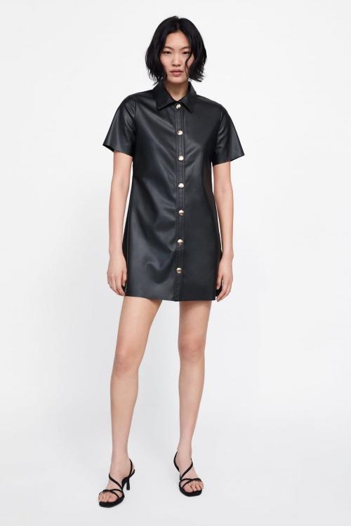 Zara - Robe en cuir