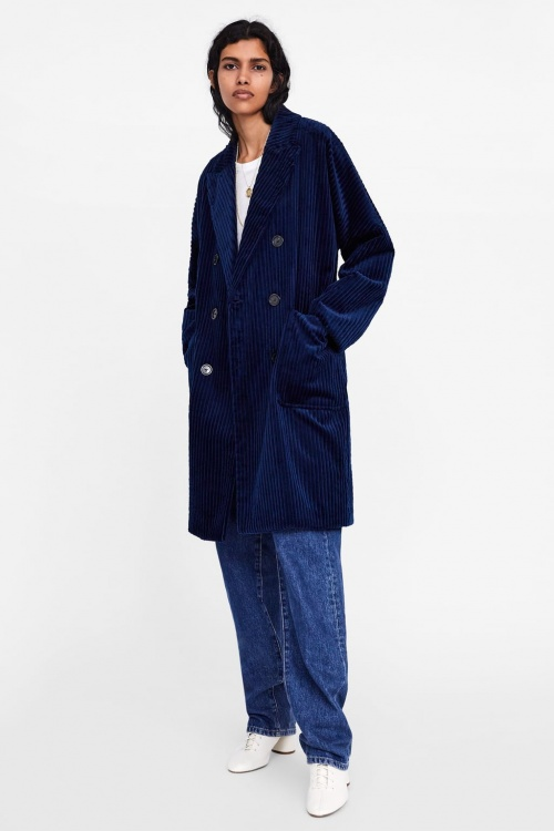 Zara - Manteau en velours côtelé